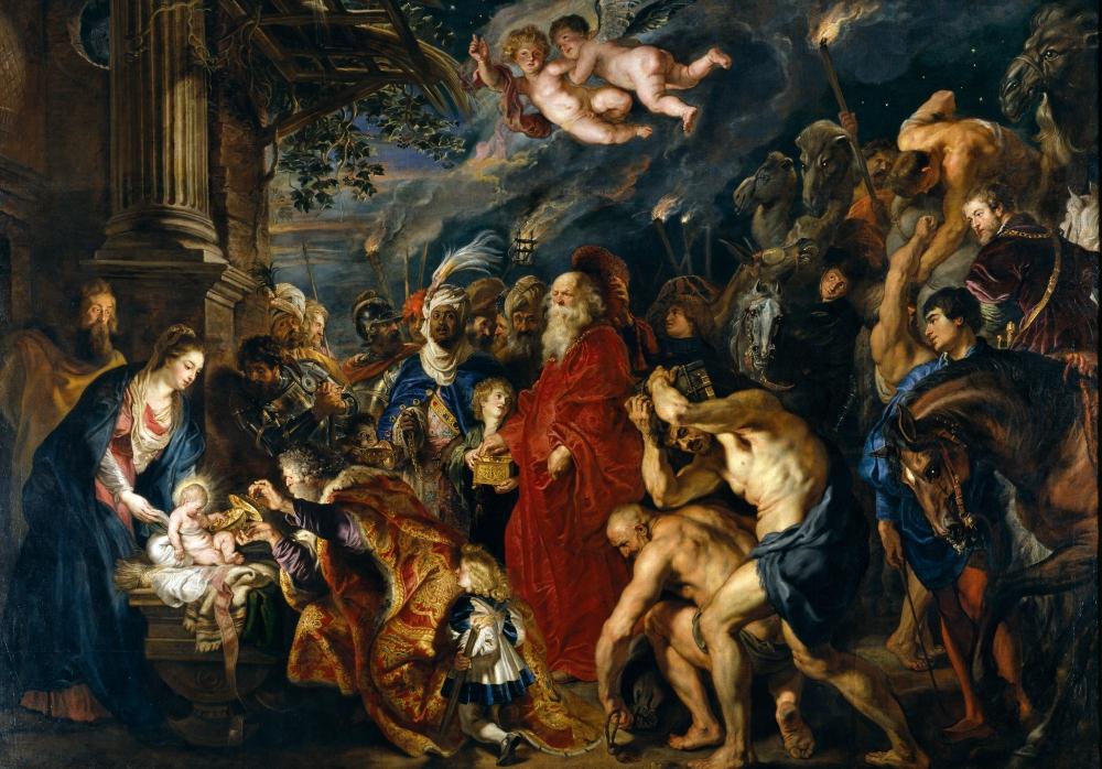 Peter Paul Rubens. La adoración de los Magos. 1609:1628-29. Museo del Prado. Madrid.
