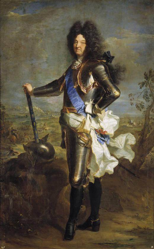 Hyacinthe Rigaud. Luis XIV, rey de Francia. 1701. Museo del Prado. Madrid.