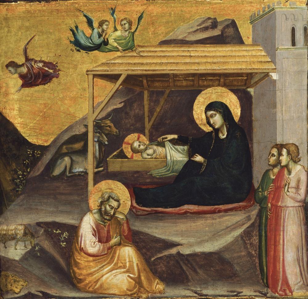 Tadeo Gaddi.La Natividad. 1325. Museo Thyssen-Bornemisza. Madrid