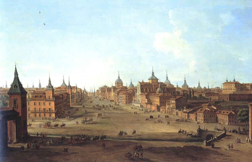 Antonio Joli. Vista de la calle de Alcalá. h 1750. Fundación Casa de Alba. Madrid.