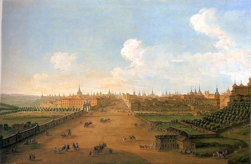 Antonio Joli. Vista de la calle de Atocha.h.1750. Casa de Alba. Madrid.