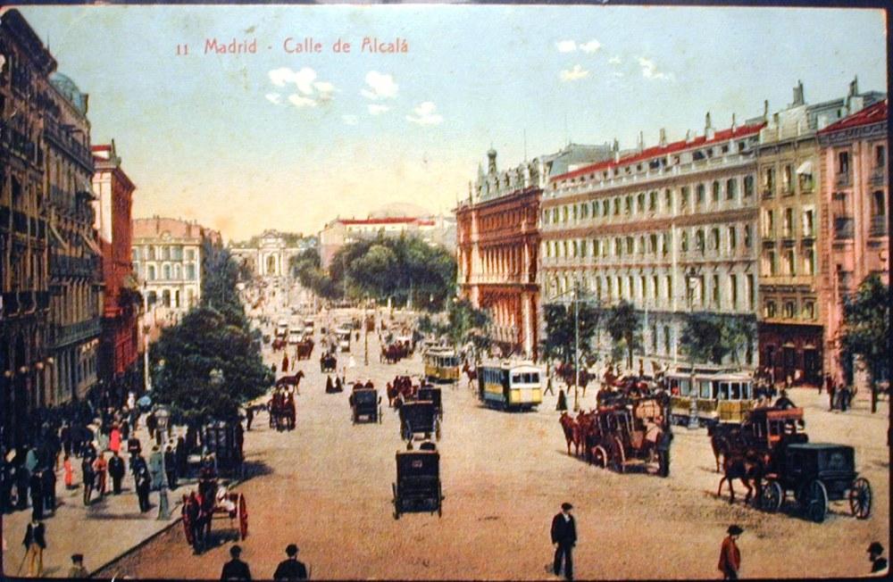 Calle Alcalá. Principios del siglo XIX.