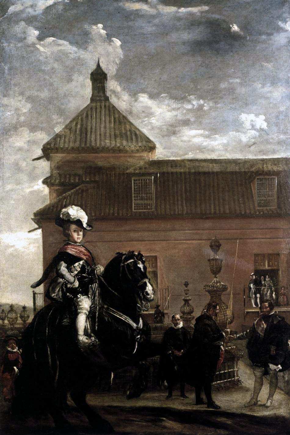Diego Velazquez. El príncipe Baltasar Carlos en el picadero. 1636 37. Colección del duque de Westminster. Londres.