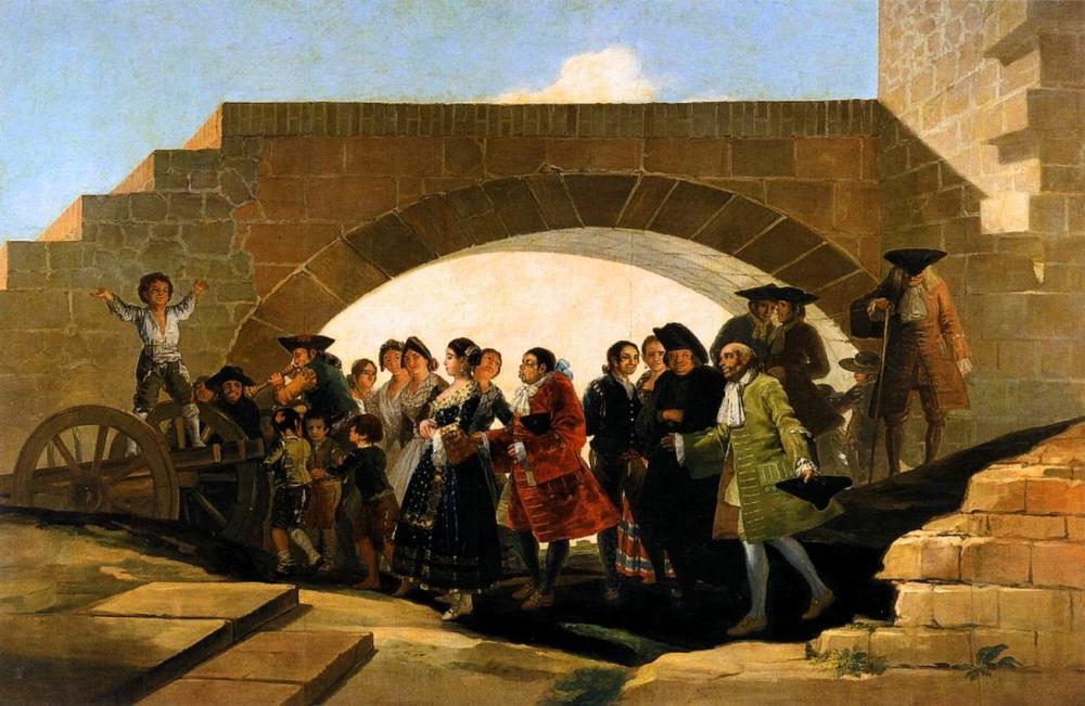 Francisco de Goya. La_boda, Cartón para tapiz. 1792. Museo del Prado. Madrid.