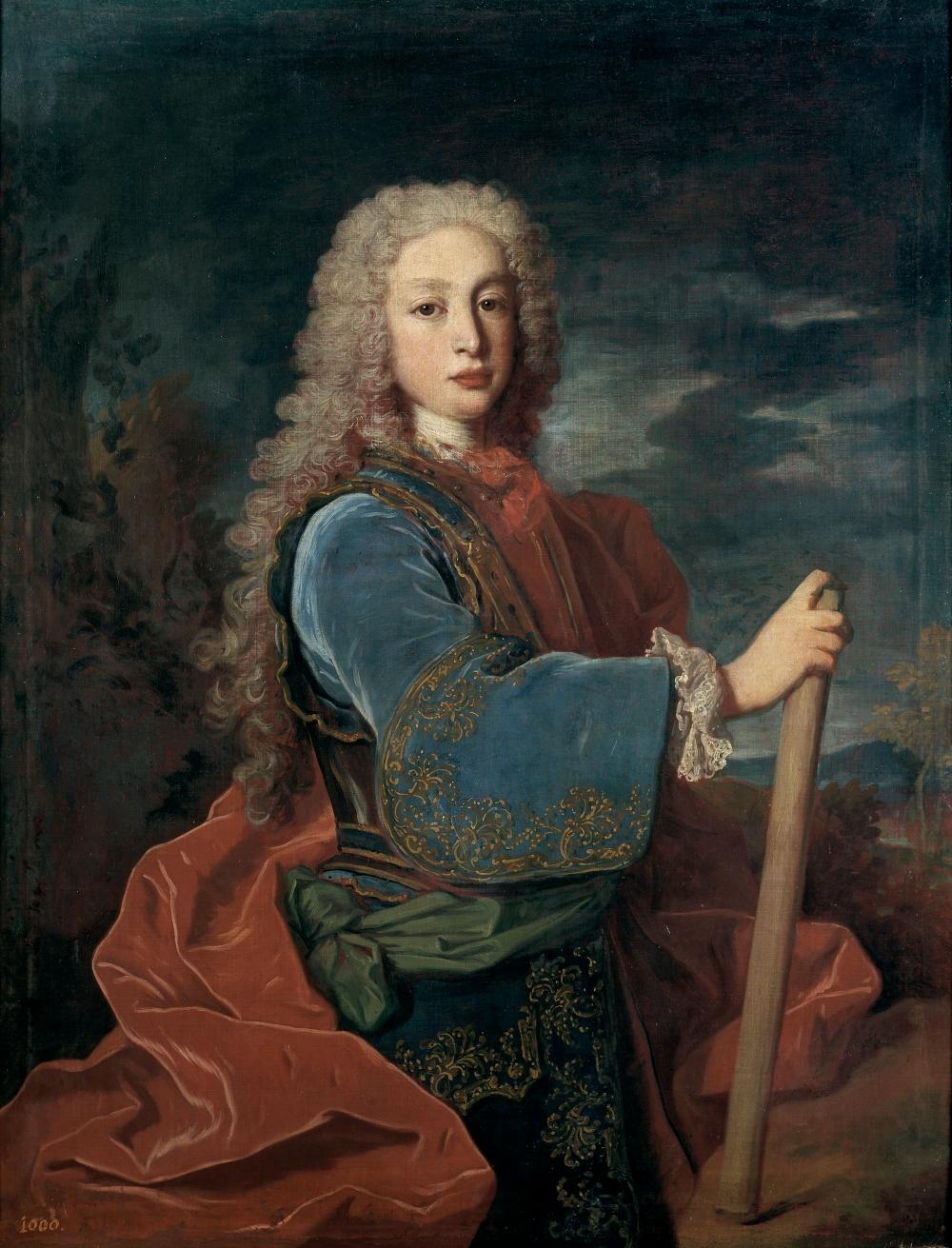 Jean Ranc. Luis I, rey de España. 1724. Museo del Prado. Madrid.