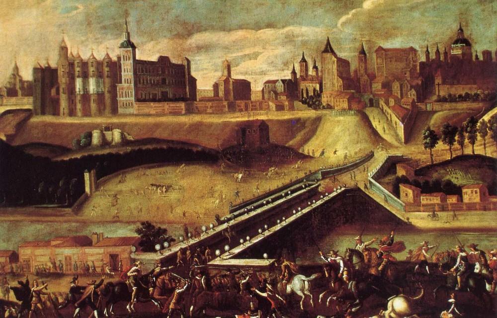 Vista Alcazar de Madrid. Siglo XVIII.