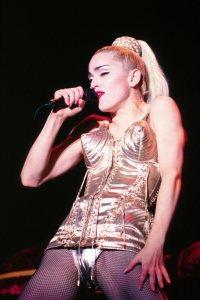 Madonna con el corpiño diseñado por Jean Paul Gaultier.