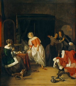 Gabriël Metsu. El intruso. National Gallery. Washington. EEUU