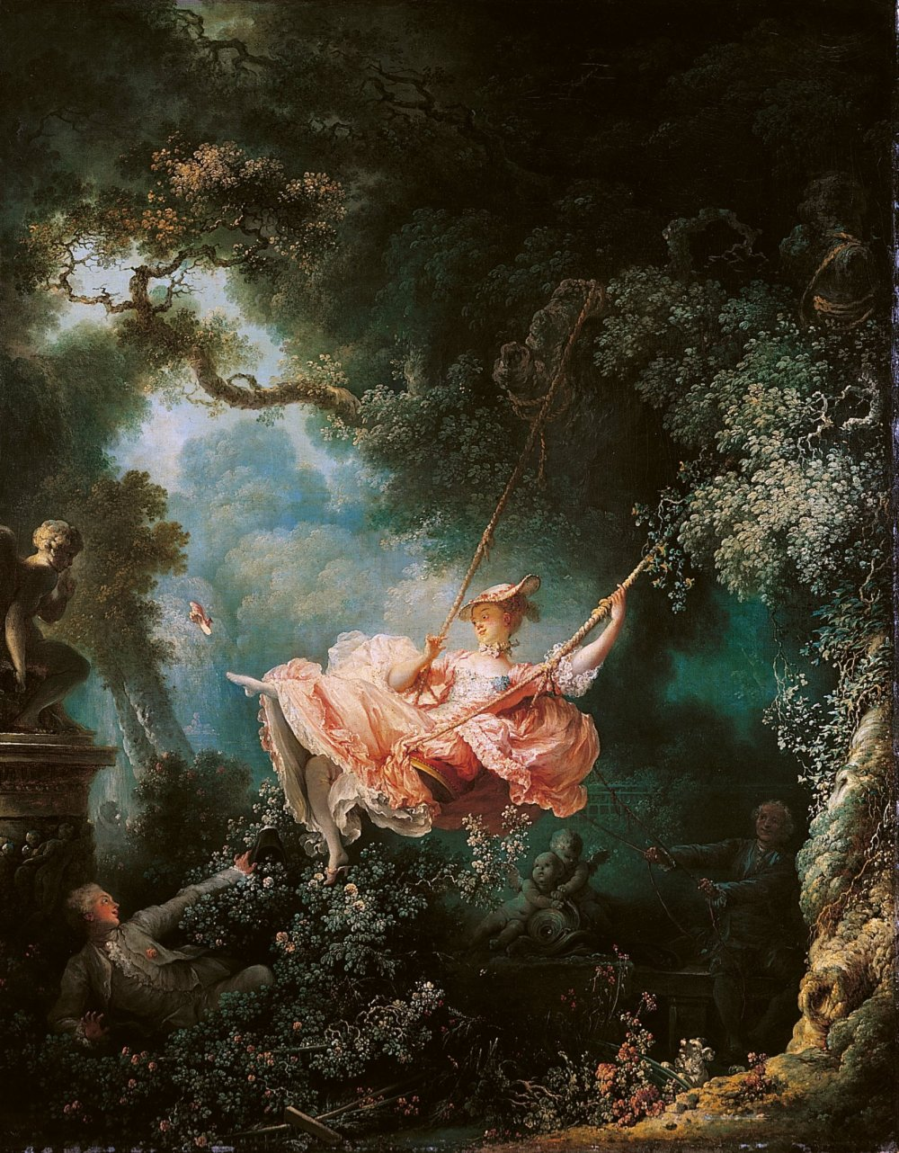Jean Honoré-Fragonard. Los felices azares del columpio. 1767-68. Wallace Collection. Londres.