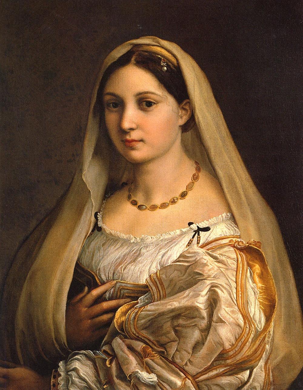Rafael Sanzio. Dama velada. Oleo sobre lienzo. 1515. Palacio Pitti. Florencia.