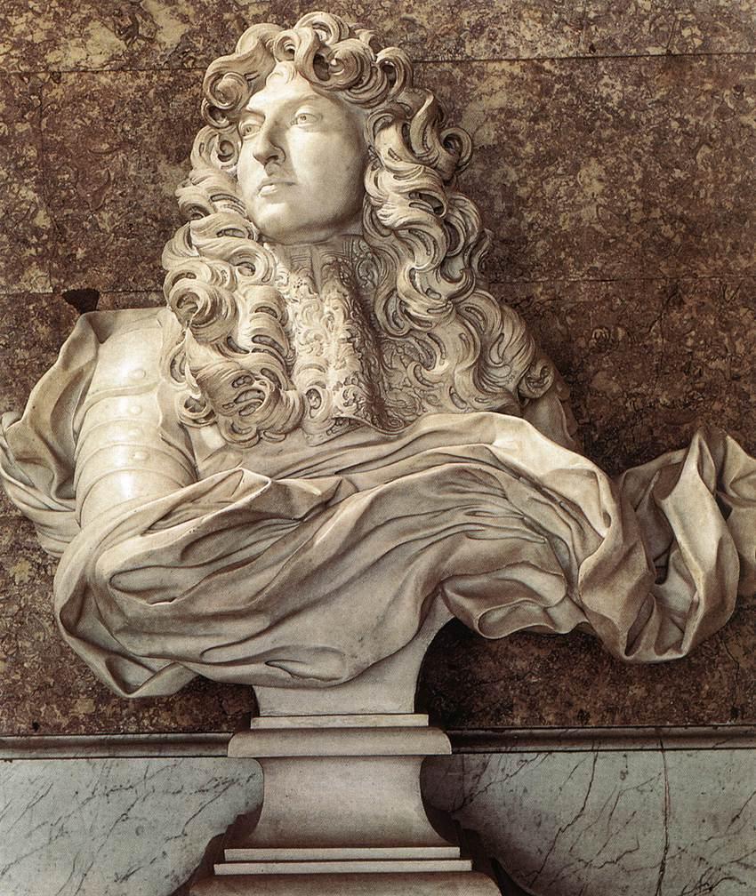 Gian Lorenzo Bernini. Busto de Luis XIV. 1665. Palacio de Versalles.
