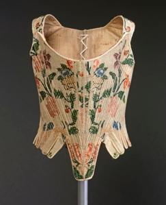Cotilla. hacia 1750. Museo textil y de Indumantaria. Barcelona