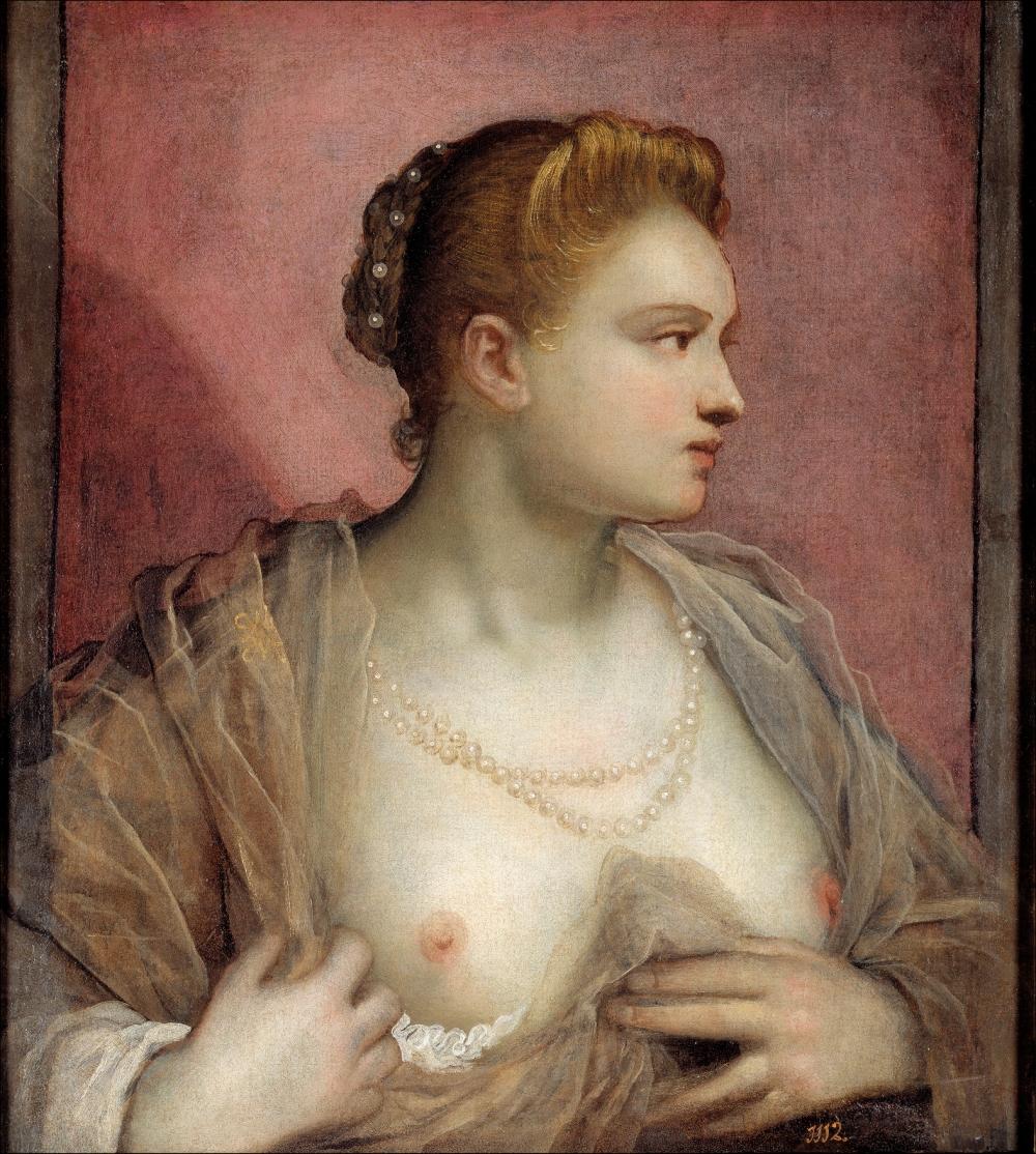 Domenico Tinttoreto. La dama que descubre el seno. Siglo XVI. Museo del Prado. Madrid.