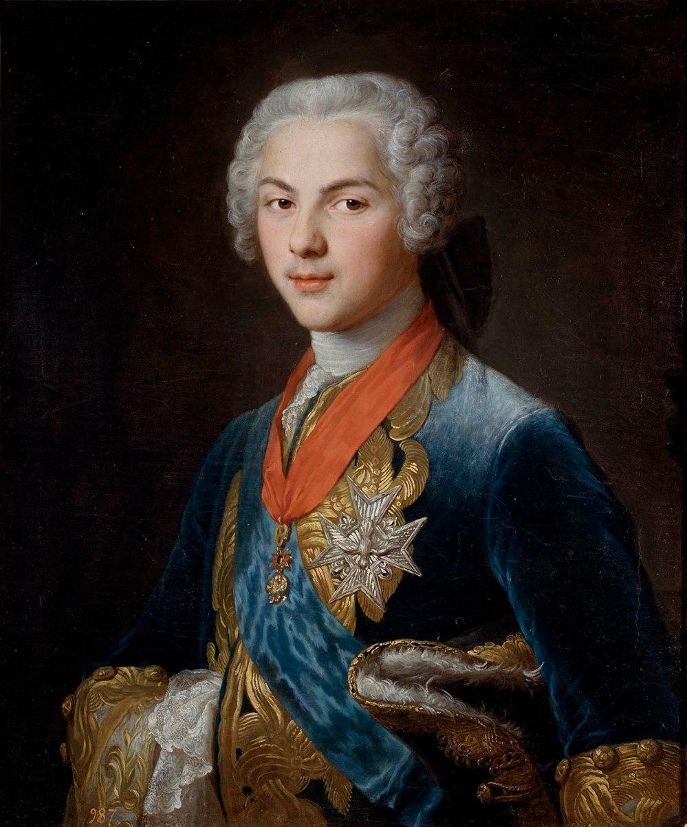 Hubert Drouais.El delfín Louis de Borbón. Museo Nacional del Prado. Madrid.