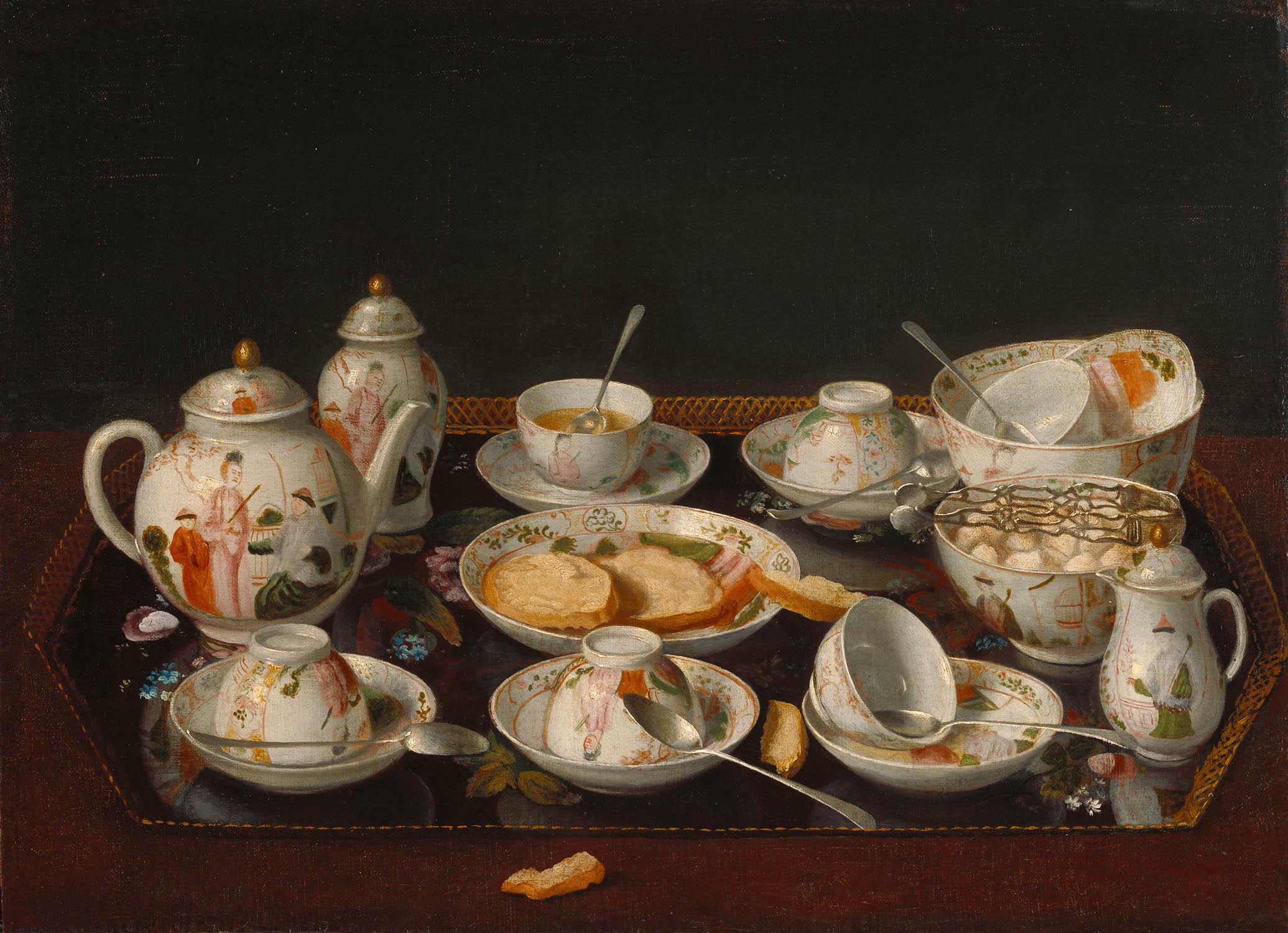 Jean Etienne Liotard. Bodegón: juego de té. Hacia 1781-1783. Getty Center. Los Ángeles.