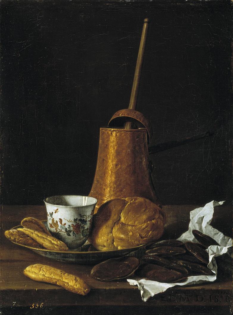 Luis Meléndez. Bodegón con servicio de chocolate. 1770. Prado.