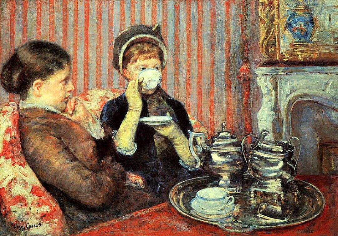 Mary Cassatt. El té de las cinco. 1880. Museo de Bellas Artes. Boston.