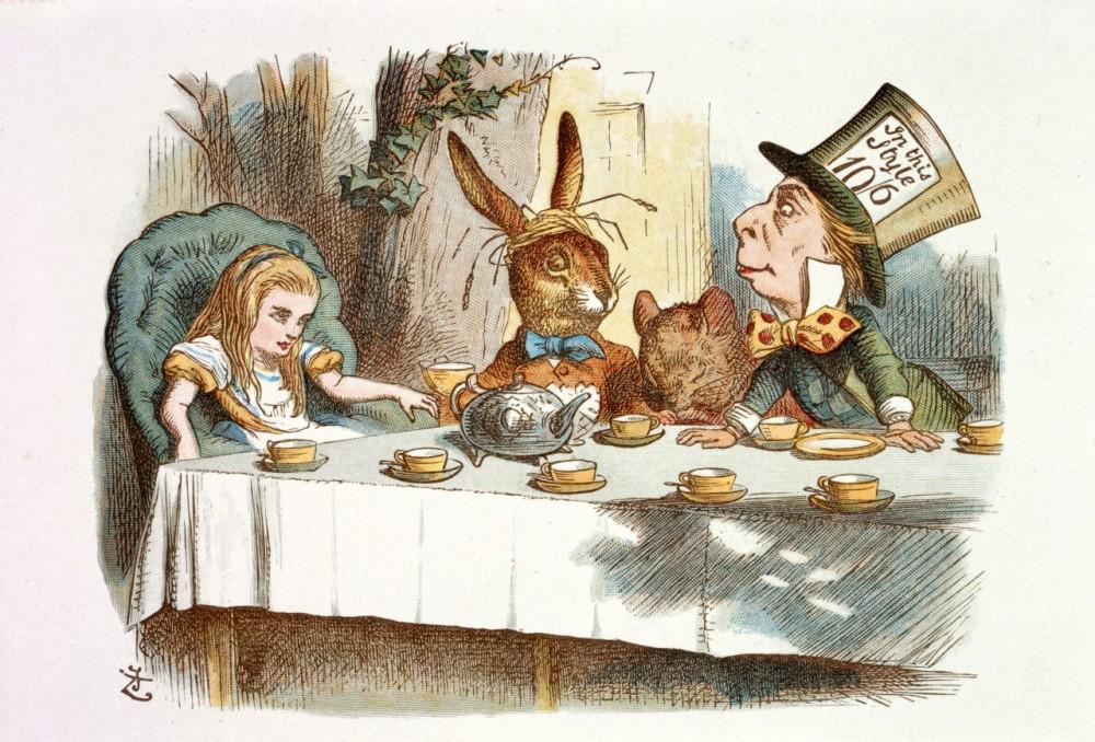 Lewis Carroll. IlustradorJohn Tenniel. Alicia en el país de las maravillas, 1890. Londres.