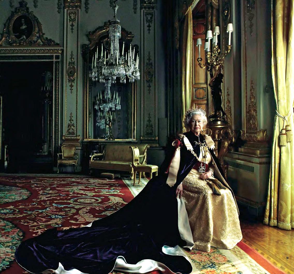 Annie Leibovitz. Retrato de la reina Isabel II de Inglaterra. 2007.