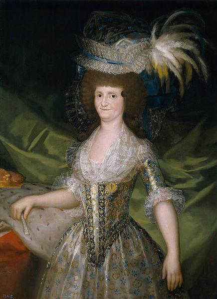 Francisco de Goya y Lucientes. María Luisa de Parma. 1789. Museo Nacional del Prado. Madrid.