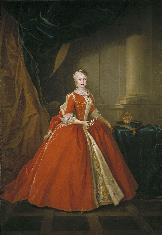 Louis de Silvestre. Maria Amalia de Sajonia. 1738. Museo del Prado. Madrid.
