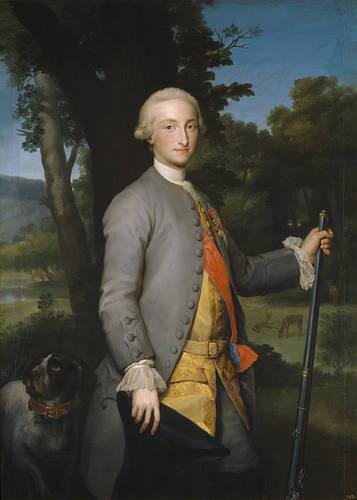 Anton Rafael Mengs. Carlos IV, príncipe de Asturias. Hacia 1765. Museo del Prado.