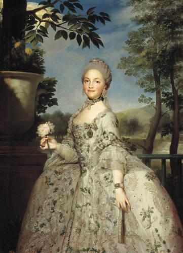 Anton Rafael Mengs. María Luisa de Parma, princesa de Asturias. Hacia 1765. Museo del Prado. Madrid.