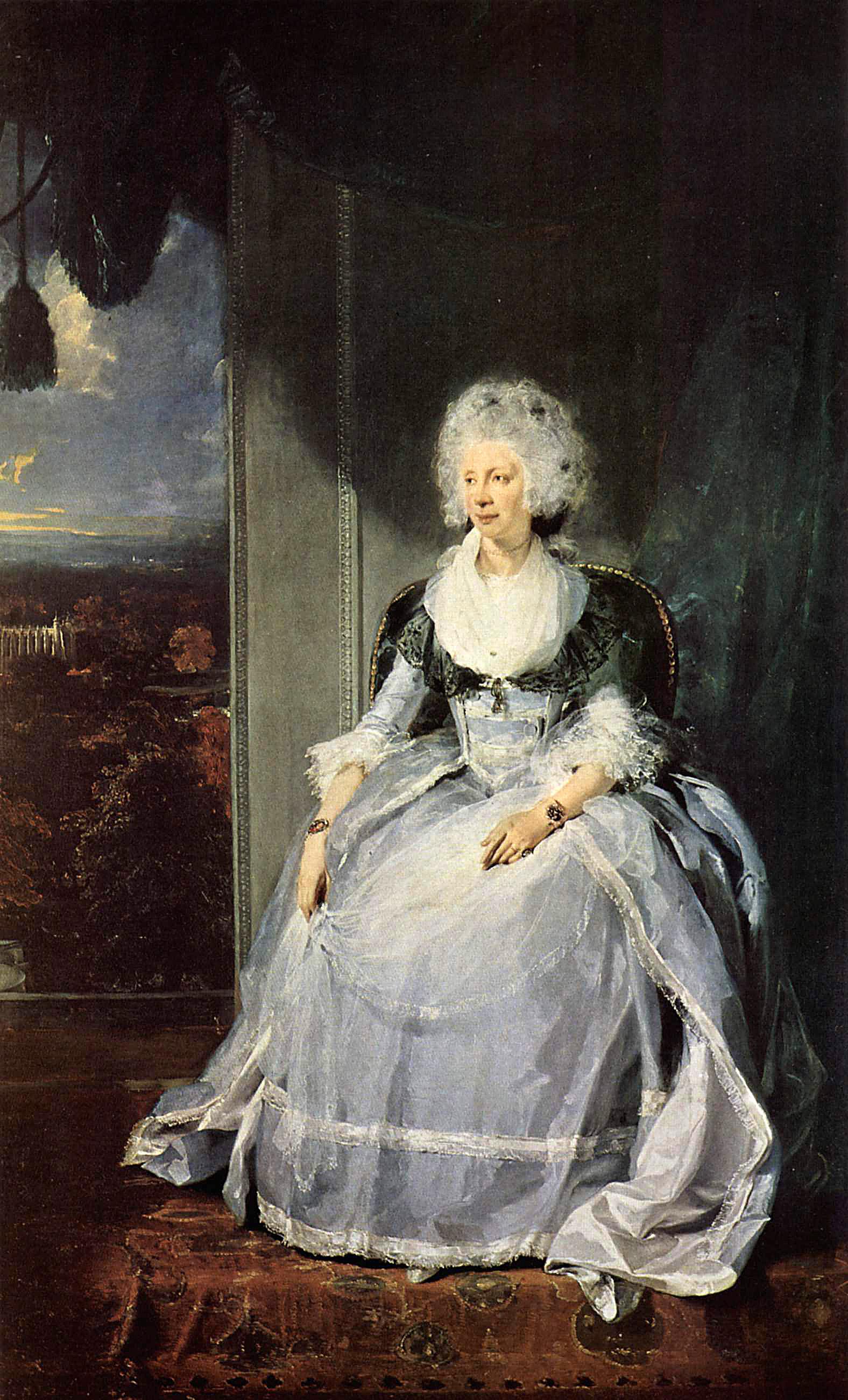 Sir Thomas Lawrence. Retrato de la reina Carlota de Inglaterra. 1789. National Gallery. Londres.