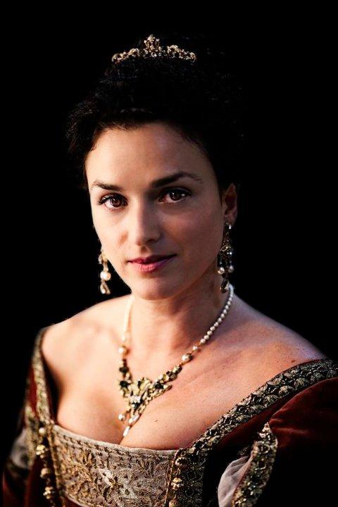 Eliana Sánchez caracterizada como Mariana de Austria.