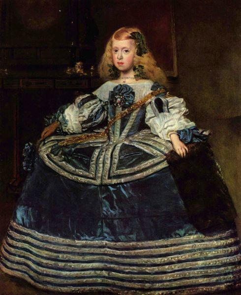 Diego Velázquez. La infanta Margarita de azul. 1659. Museo de Viena.