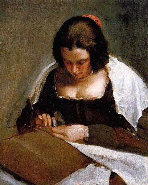Diego Velázquez. La costurera. Hacia 1635-1643. National Gallery. Washington.