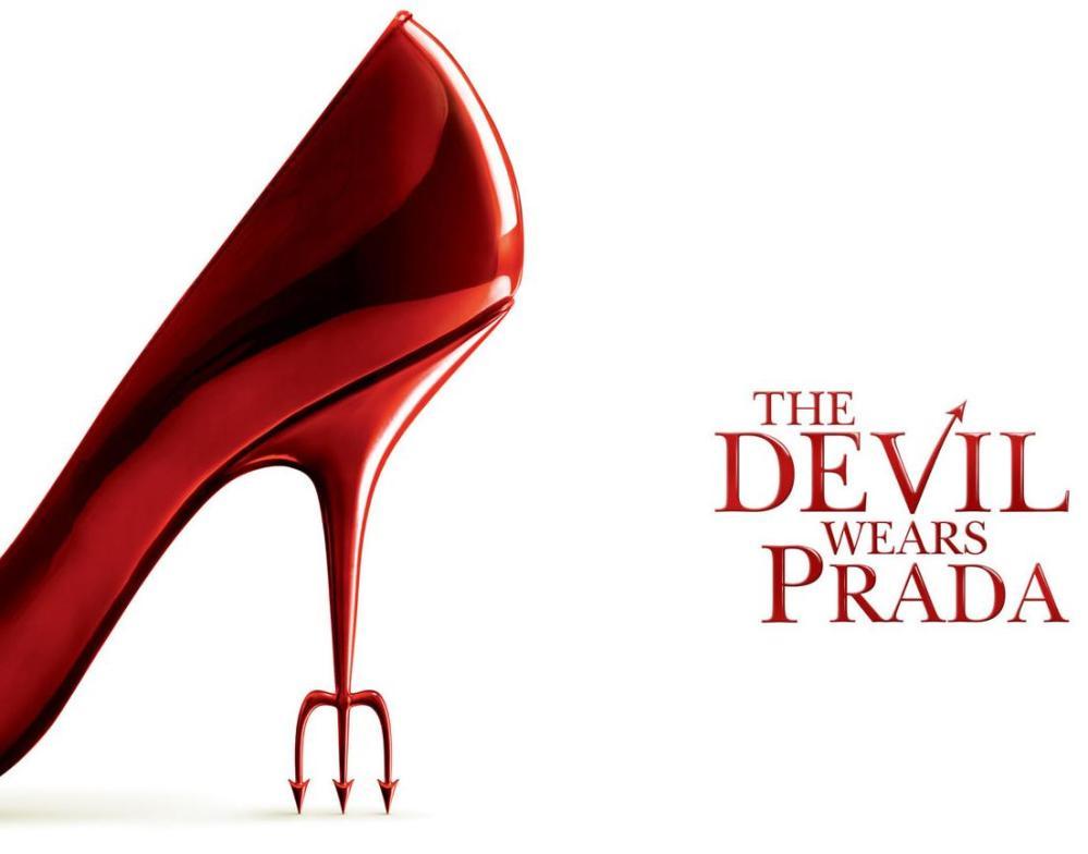 Cartel de la película el diablo viste de Prada.