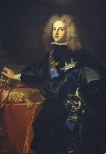 Hyacinthe Rigaud. Felipe V. 1701. Palacio de Versalles.