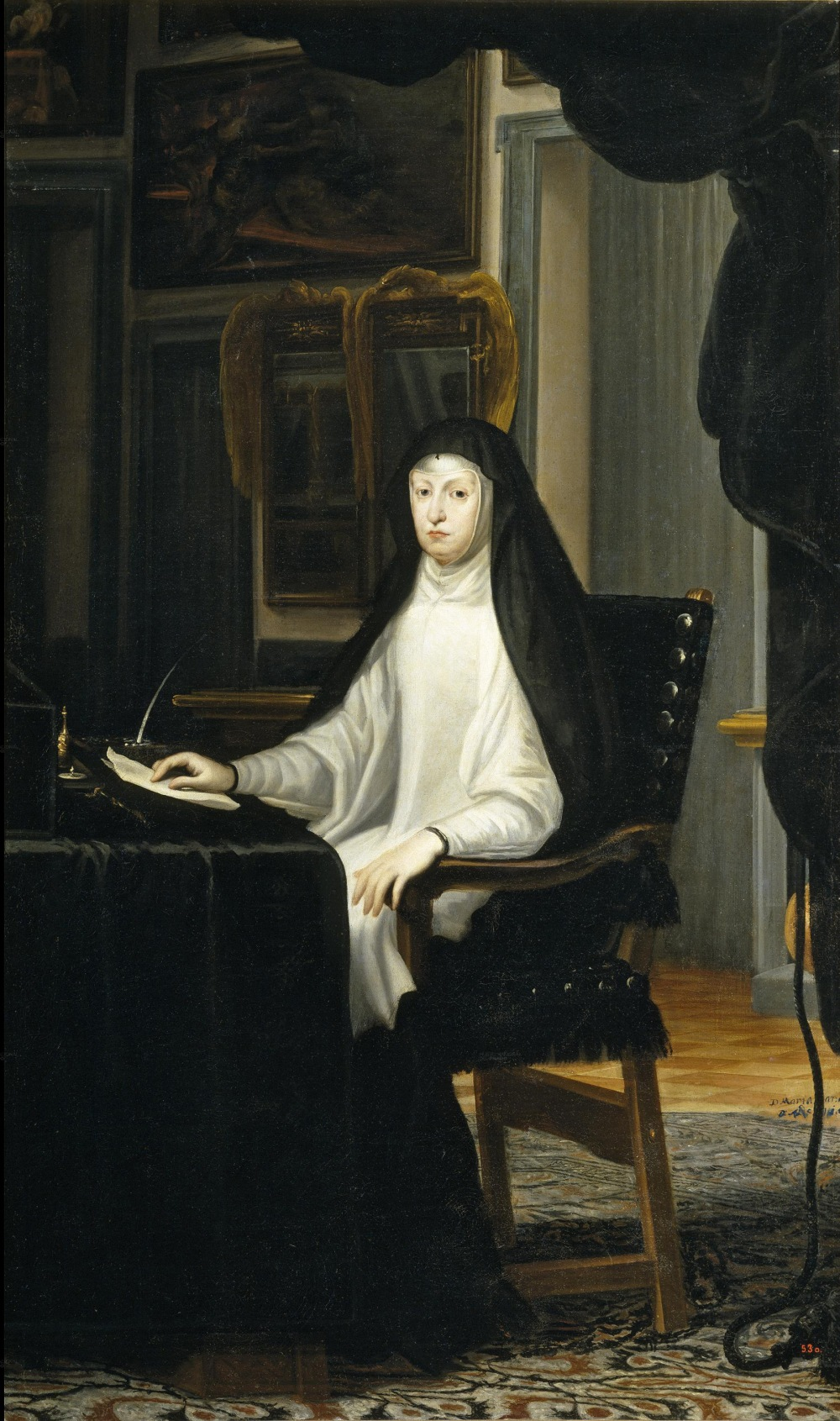 Juan Carreño de Miranda. Mariana de Austria. 1669. Museo del Prado. Madrid.