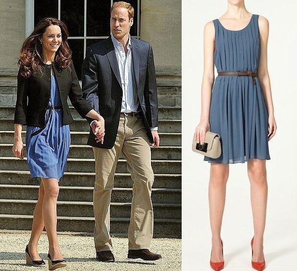 Kate Middleton luciendo un modelo de la firma española Zara.