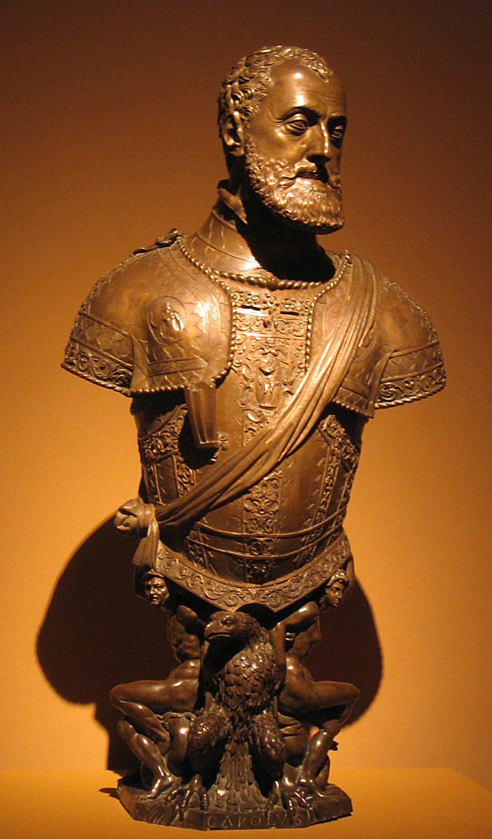 Leone y Pompeo Leoni. Busto de Carlos V. 1553. Museo del Prado. Madrid.