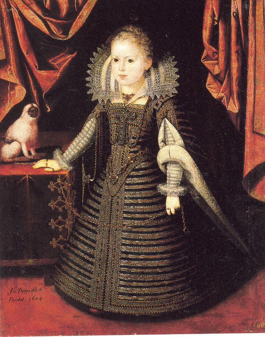 Juan Pantoja de la Cruz. Ana de Austria 1604 Kunsthistorisches Museum. Viena.