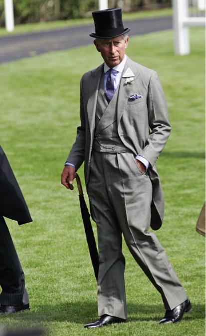 Carlos, príncipe de Gales, en las carreras de Ascot.