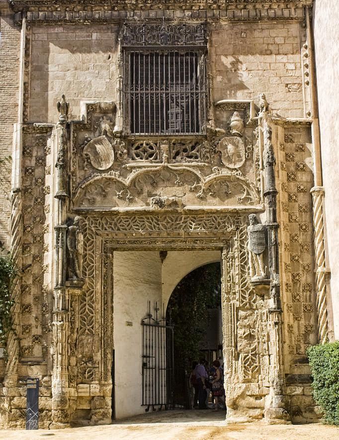 Puerta del Palacio de los Duques de Arcos en Marchena. En la actualidad en los Reales Alcazares.