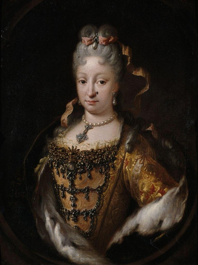 Miguel Jacinto Meléndez. Isabel de Farnesio. 1718-22. Biblioteca Nacional. Madrid.