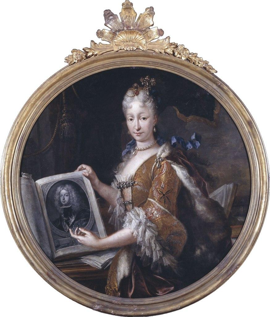 Miguel Jacinto Meléndez. Isabel de Farnesio. 1727. Biblioteca Nacional. Madrid.