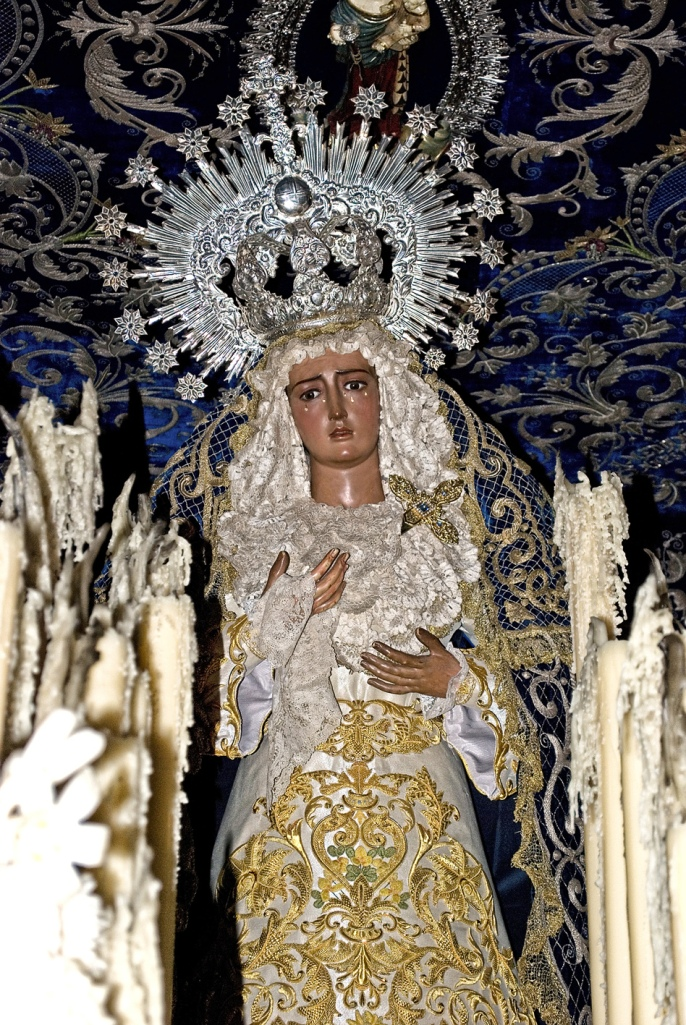 Virgen de la Hiniesta. Parroquia de San Julián. Sevilla.