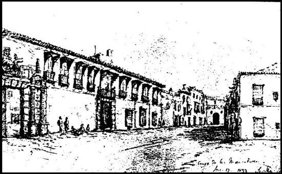 Vista del palacio Monsalves por Richard Ford en 1822 Propiedad del Marqués de la Granja.