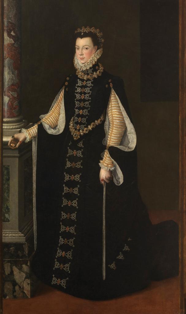 Sofonisba Anguisola. Isabel Valois_sosteniendo elretrato deFelipe II. 1561-65. Museo del Prado. Madrid.
