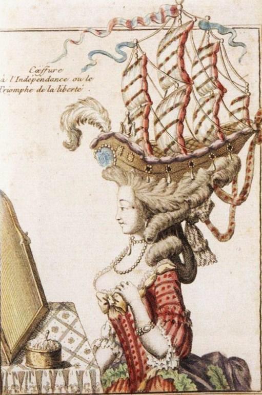 Peinado a la independencia o el triunfo de la libertad. Caricatura. Hacia 1780.