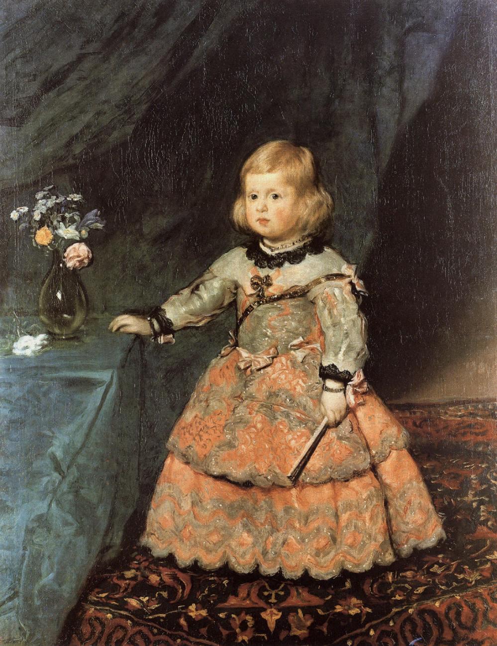 Diego Velázquez. Infanta Margarita vestida de rosa. 1653-54. Kunsthistorisches Museum. Viena.
