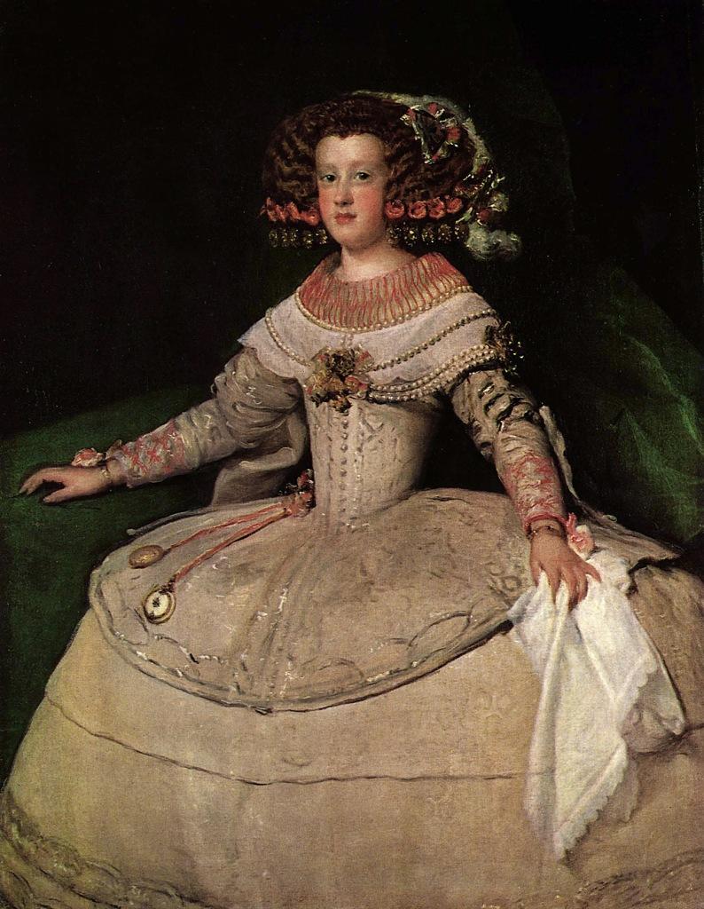 Diego Velázquez. La infanta María Teresa de Austria. Hacia 1652. Museo de Viena.