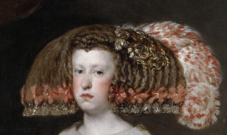 Diego Velázquez. Mariana de Austria, reina de España. Detalle cabeza. Hacia 1652. Museo del Prado. Madrid.