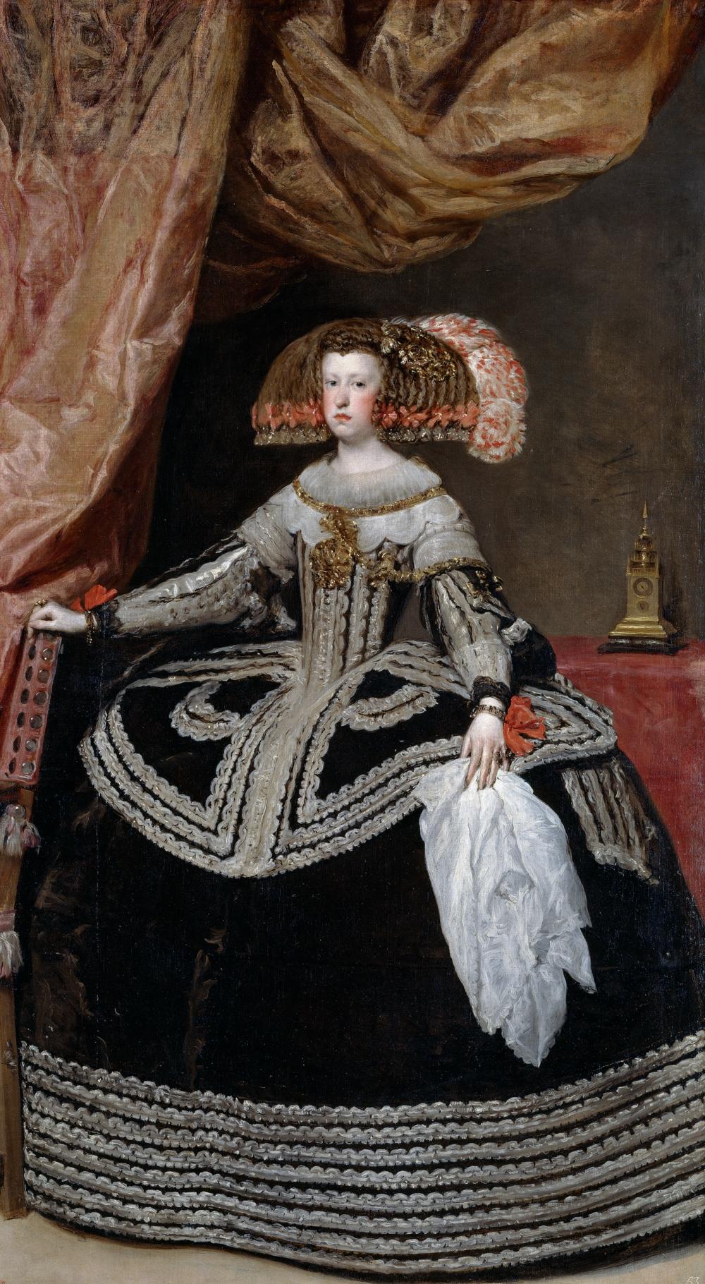 Diego Velázquez. Mariana de Austria, reina de España. Hacia 1652. Museo del Prado. Madrid.