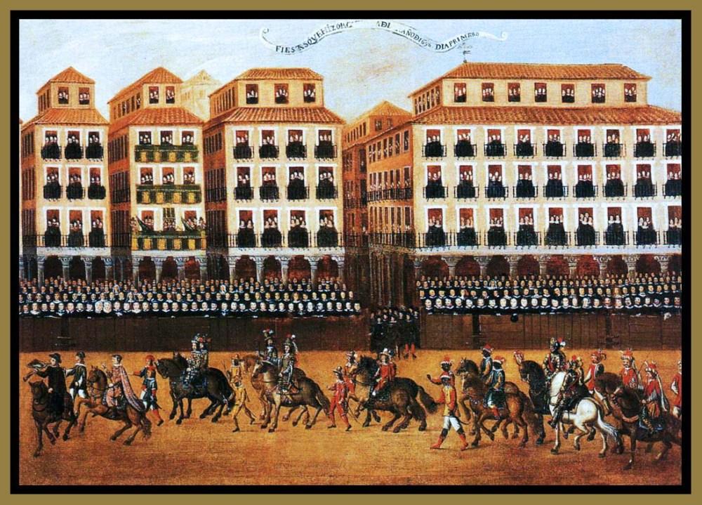 Felipe Gil de Mena. Fiesta en la Plaza Mayor de Valladolid Segunda mitad siglo XVII.